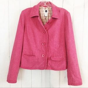 Gap Pink Wool Blazer